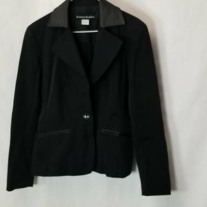Bianca Nygard Button Up Black Jacket Size 10
